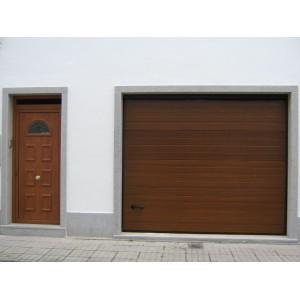 Puerta imitacion madera clara