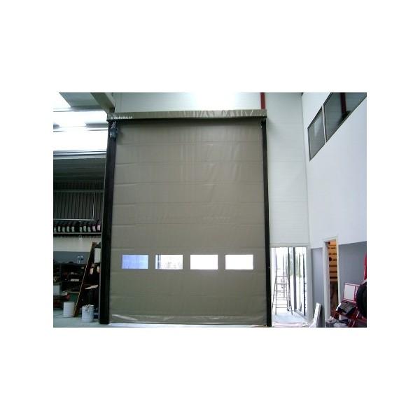 Puerta r pida reforzada industrial automatismos julio for Puerta industrial