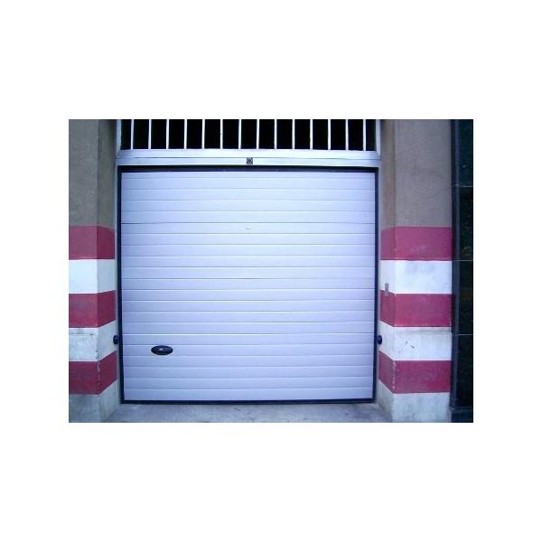 Puerta seccional residencial RAL9006