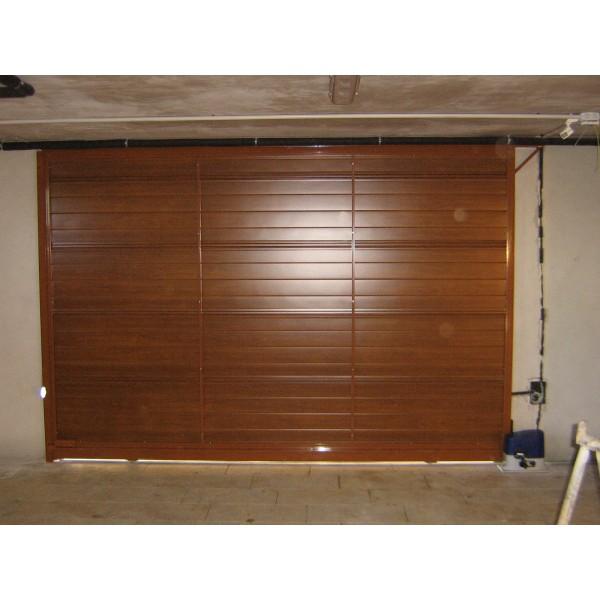 Puerta corredera panel sandwich imitaci n madera clara for Puerta corredera interior madera