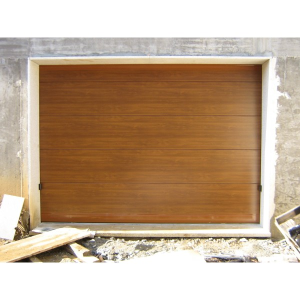 Puerta corredera panel sandwich madera clara