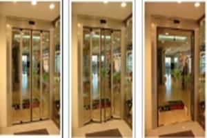 puerta plegable para huecos estrechos