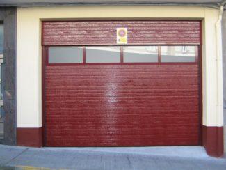 Puerta seccional RAL 3005