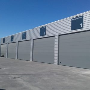 Puerta seccional industrial RAL 7012