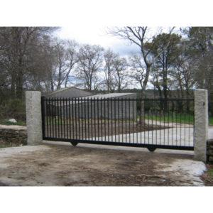 Puerta corredera en pletina
